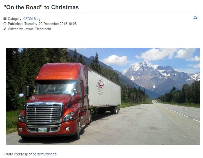 Bartel Freight Featured on Pembinavalleyonline.com